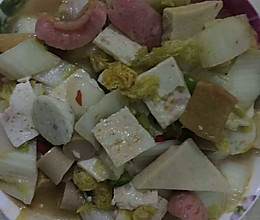 白菜炖虾糕鱼丸的做法