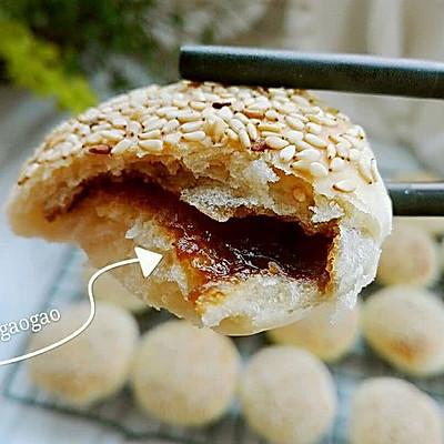 发面红糖芝麻小酥饼