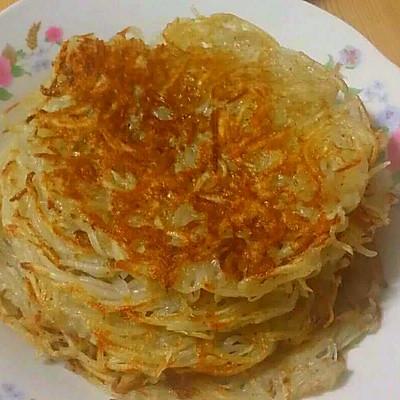 土豆饼(原味土豆饼,不加面粉淀粉)