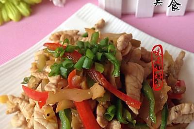 青椒肉丝榨菜--乌江榨菜
