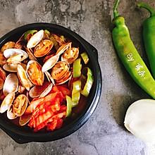 韩式辣白菜蛤蜊锅-石锅海鲜汤 快手简单好做