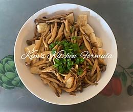 家常菜之1:柳姬菇浇汁豆腐的做法