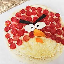 愤怒的小鸟披萨#蒙牛嗨Milk#