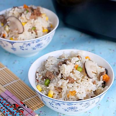 粒粒喷香的香菇牛肉焖饭