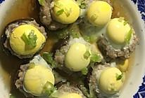 香菇肉馅蒸鹌鹑蛋的做法