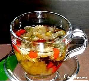 清凉枸杞柠檬茉莉花茶