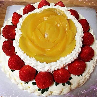 8寸 生日蛋糕 奶油蛋糕