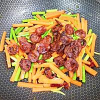 #元宵节美食大赏#胡萝卜炒腊肠的做法图解14