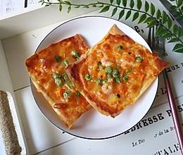 馄饨皮披萨的做法