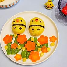 卡通小鸡饭团#快乐宝宝餐#