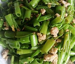 空心菜茎炒肉的做法