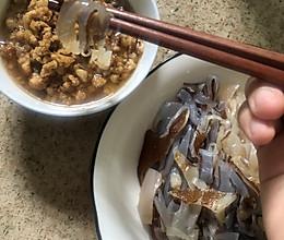 海蜇拌肉末的做法
