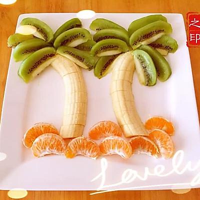 椰子树果盘