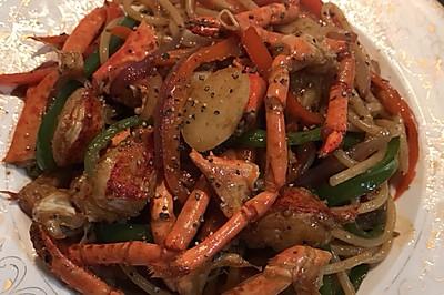 黑椒龙虾炒面