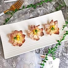 像花儿一样绽放—馄饨皮花朵酥#带着美食去踏青#