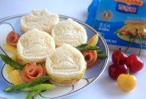 让小屁孩高高兴兴吃下蔬菜的芝士三明治#百吉福食尚达人#的做法