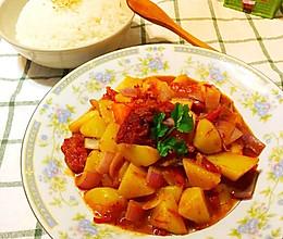 最下饭的番茄土豆烩牛腩的做法