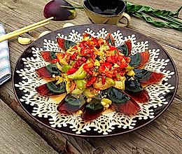 红椒茄子拌皮蛋的做法