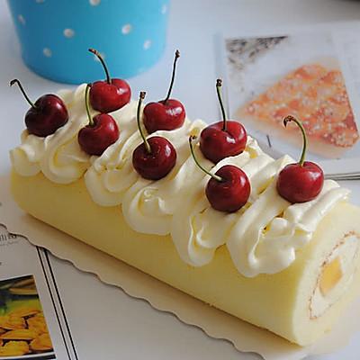 水果奶油蛋糕卷