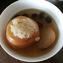 百合红枣蒸梨