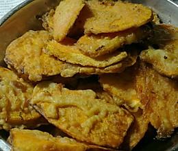 油炸红薯片的做法