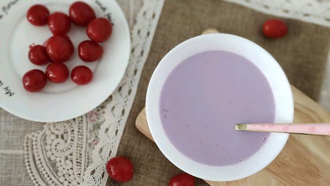元气早餐 紫薯牛奶燕麦粥可做减肥餐的做法