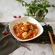 #精品菜谱挑战赛#番茄鸡蓉烩豆腐