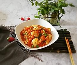 #精品菜谱挑战赛#番茄鸡蓉烩豆腐的做法