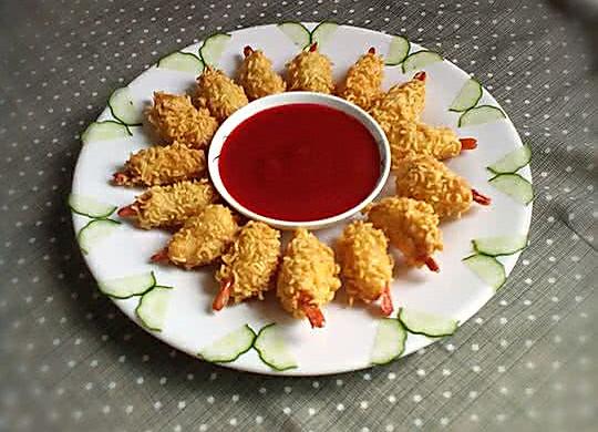 小吃~黄金虾