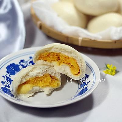 咸蛋黄版奶黄包