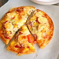 DIY鲜虾培根水果披萨 比点外卖还要快的做法图解8