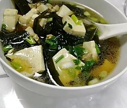 海带豆腐肉沫汤的做法