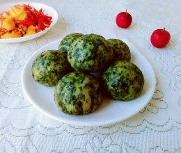 #憋在家里吃什么#养生荠菜馍馍的做法