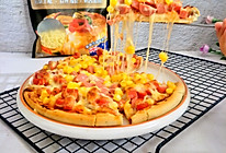 #安佳马苏里拉芝士挑战赛#美味火腿披萨的做法