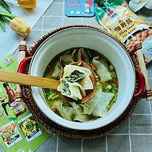 #夏日开胃餐#咖喱味荠菜鲜肉馄饨,你一定没吃过的美味早餐