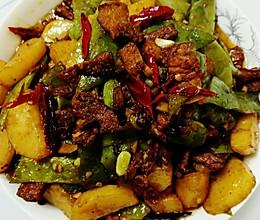 扁豆角土豆炖肉的做法