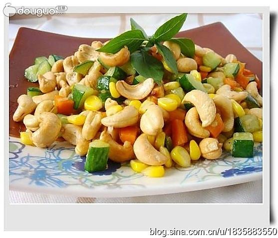 腰果玉米粒的做法
