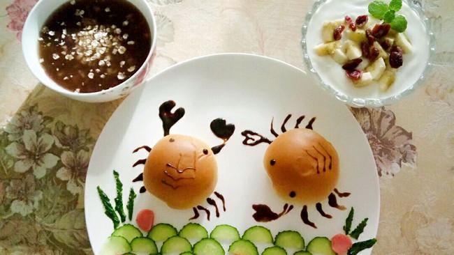 小螃蟹儿童早餐的做法