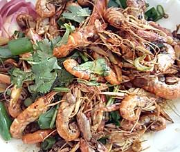 麻辣夹板虾的做法