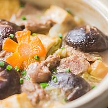 白菜豆腐牛肉煲