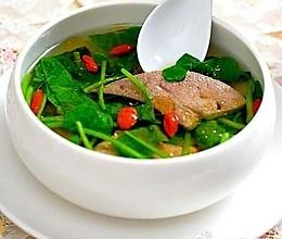 补血菠菜猪肝汤的做法