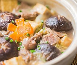 白菜豆腐牛肉煲的做法