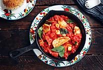 番茄罗勒炖鸡胸的做法