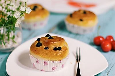 蓝莓炼乳面包卷#美的烤箱菜谱#