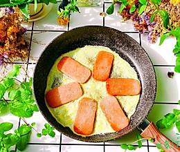 #全电厨王料理挑战赛热力开战!#10min~午餐肉煎蛋的做法