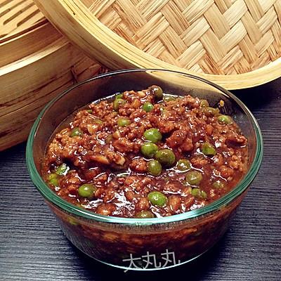 超好吃的豌豆牛肉末炸酱