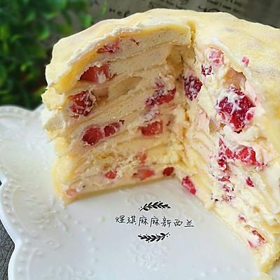 草莓千层糕