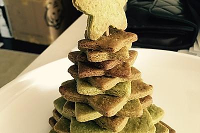 抹茶黄油饼干圣诞树