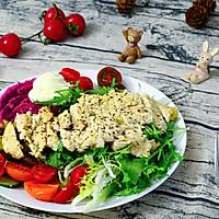 香煎鸡胸肉拌蔬果沙拉的做法图解15