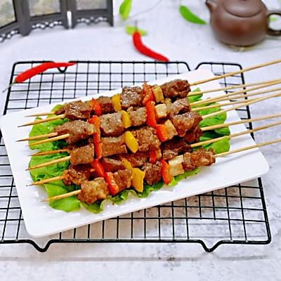 彩椒烤牛肉串